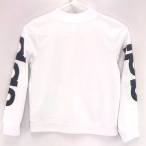 adidas Shirts & Tops - Adidas White Full Zip Hoodie Jacket Sweater Medium